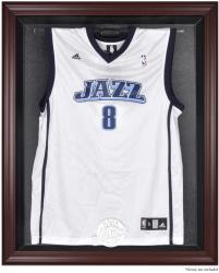 Utah Jazz Mahogany Framed Team Logo Jersey Display Case - Mounted Memories