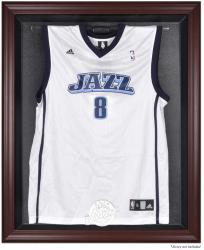 Utah Jazz Mahogany Framed Team Logo Jersey Display Case