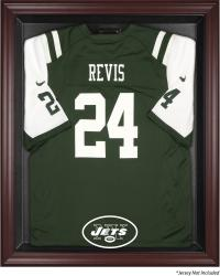 New York Jets Mahogany Frame Jersey Display Case - Mounted Memories