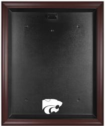 Kansas State Wildcats Mahogany Framed Logo Jersey Display Case - Mounted Memories