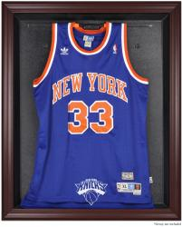 New York Knicks Mahogany Framed Team Logo Jersey Display Case - Mounted Memories