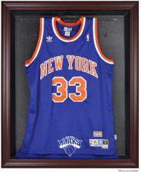 New York Knicks Mahogany Framed Team Logo Jersey Display Case