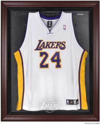 Los Angeles Lakers Mahogany Framed Team Logo Jersey Display Case - Mounted Memories