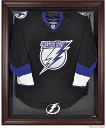 Tampa Bay Lightning Mahogany Jersey Display Case - Mounted Memories