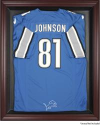 Detroit Lions Mahogany Frame Jersey Display Case - Mounted Memories