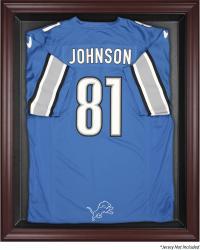 Detroit Lions Mahogany Frame Jersey Display Case