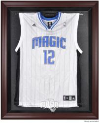 Orlando Magic Mahogany Framed Team Logo Jersey Display Case - Mounted Memories