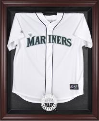 Seattle Mariners Mahogany Framed Logo Jersey Display Case - Mounted Memories
