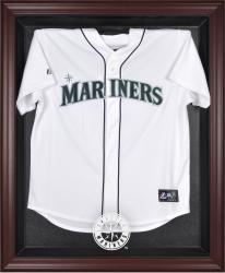 Seattle Mariners Mahogany Framed Logo Jersey Display Case