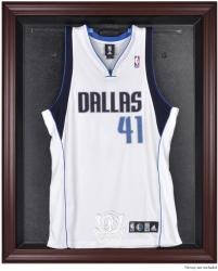 Dallas Mavericks Mahogany Framed Team Logo Jersey Display Case - Mounted Memories
