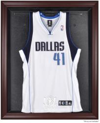 Dallas Mavericks Mahogany Framed Team Logo Jersey Display Case