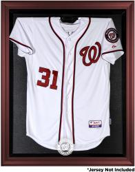 Washington Nationals Mahogany Framed Logo Jersey Display Case - Mounted Memories