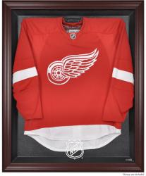 NHL Shield Mahogany Jersey Display Case - Mounted Memories