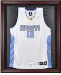 Denver Nuggets Mahogany Framed Team Logo Jersey Display Case - Mounted Memories