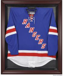 New York Rangers Mahogany Jersey Display Case - Mounted Memories