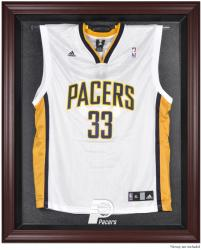 Indiana Pacers Mahogany Framed Team Logo Jersey Display Case - Mounted Memories