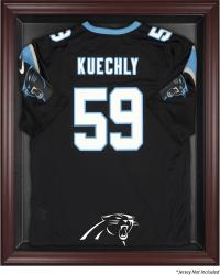 Carolina Panthers Frame Jersey Display Case - Mahogany - Mounted Memories
