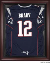 New England Patriots Mahogany Frame Jersey Display Case