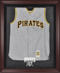 Pittsburgh Pirates Mahogany Framed Logo Jersey Display Case - Mounted Memories