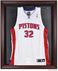 Detroit Pistons Mahogany Framed Team Logo Jersey Display Case