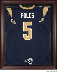 St. Louis Rams Mahogany Frame Jersey Display Case - Mounted Memories