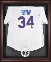 Texas Rangers Mahogany Framed Logo Jersey Display Case - Mounted Memories