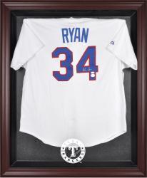 Texas Rangers Mahogany Framed Logo Jersey Display Case