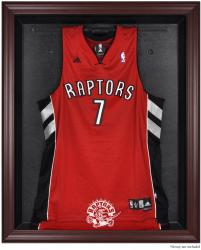 Toronto Raptors Mahogany Framed Team Logo Jersey Display Case - Mounted Memories