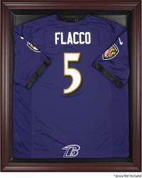 Baltimore Ravens Frame Jersey Display Case - Mahogany - Mounted Memories