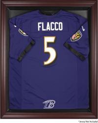 Baltimore Ravens Frame Jersey Display Case - Mahogany