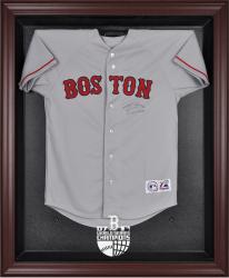 Boston Red Sox 2007 World Series Champions Mahogany Framed Logo Jersey Display Case - Mounted Memories
