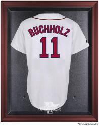 Boston Red Sox 2013 MLB World Series Champions Mahogany Framed Jersey Case