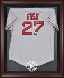 Boston Red Sox Mahogany Framed Logo Jersey Display Case
