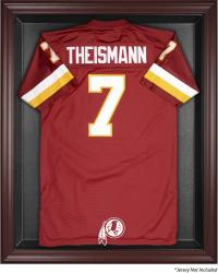 Washington Redskins Mahogany Frame Jersey Display Case - Mounted Memories