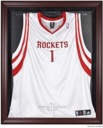 Houston Rockets Mahogany Framed Team Logo Jersey Display Case - Mounted Memories