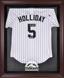 Colorado Rockies Mahogany Framed Logo Jersey Display Case