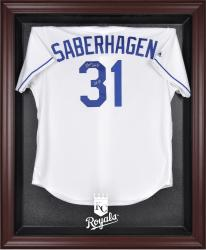 Kansas City Royals Mahogany Framed Logo Jersey Display Case - Mounted Memories