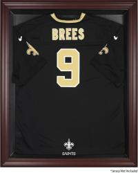 New Orleans Saints Mahogany Frame Jersey Display Case