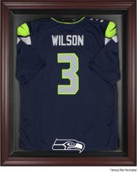 Seattle Seahawks Mahogany Frame Jersey Display Case - Mounted Memories