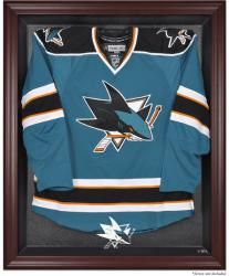 San Jose Sharks Mahogany Jersey Display Case - Mounted Memories