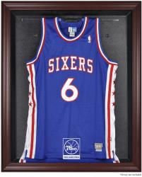 Philadelphia 76ers Mahogany Framed Team Logo Jersey Display Case - Mounted Memories