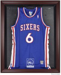 Philadelphia 76ers Mahogany Framed Team Logo Jersey Display Case