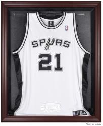 San Antonio Spurs Mahogany Framed Team Logo Jersey Display Case