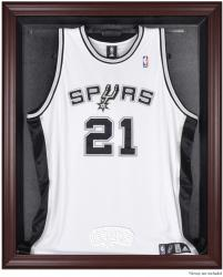 San Antonio Spurs Mahogany Framed Team Logo Jersey Display Case