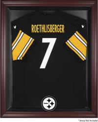 Pittsburgh Steelers Mahogany Frame Jersey Display Case - Mounted Memories
