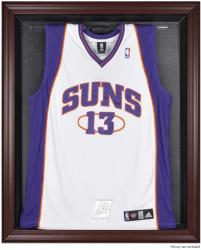 Phoenix Suns Mahogany Framed Team Logo Jersey Display Case - Mounted Memories