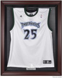 Minnesota Timberwolves Mahogany Framed Team Logo Jersey Display Case - Mounted Memories