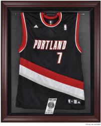 Portland Trail Blazers Mahogany Framed Team Logo Jersey Display Case - Mounted Memories