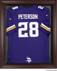 Minnesota Vikings Mahogany Framed Jersey Display Case