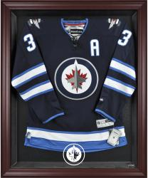 Winnipeg Jets Mahogany Framed Logo Jersey Display Case - Mounted Memories